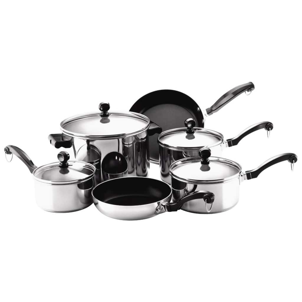 Farberware Classic Stainless Steel Cookware 10-Piece Set Only $44.99 ...